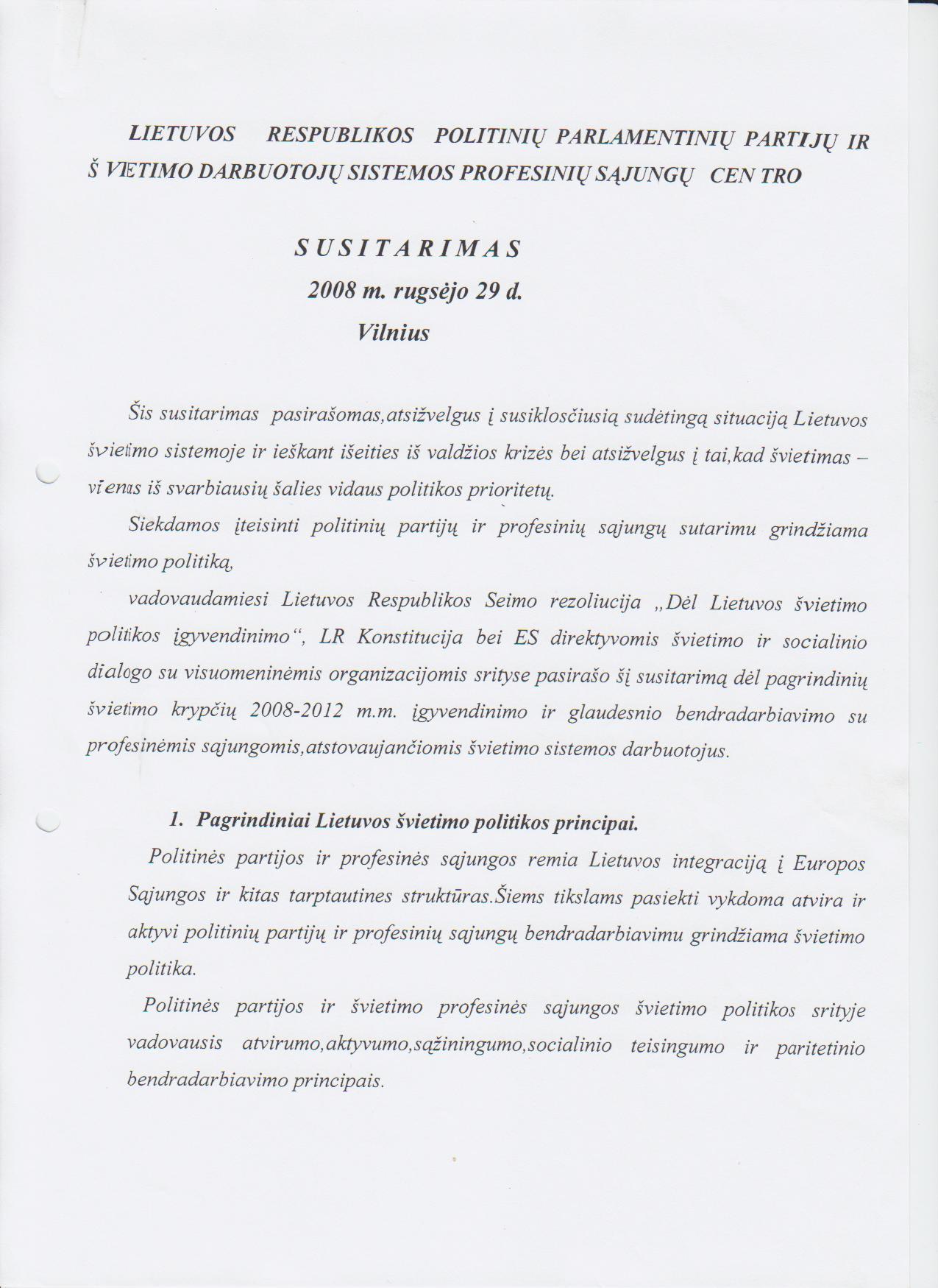 profesinių sąjungų politinė sistema